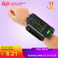 4-5.5in Running Bag Men Women Armbands Touch Screen Cell Phone Case Rotatable Running Belt Cycling Gym Arm Band Bag for iPhone