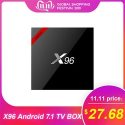 Original X96 Android TV BOX Android 7.1 Amlogic S905W Quad Core 2GB 16GB Set Top Box 2.4GHz WiFi HDR10 17.4 Smart Media Player