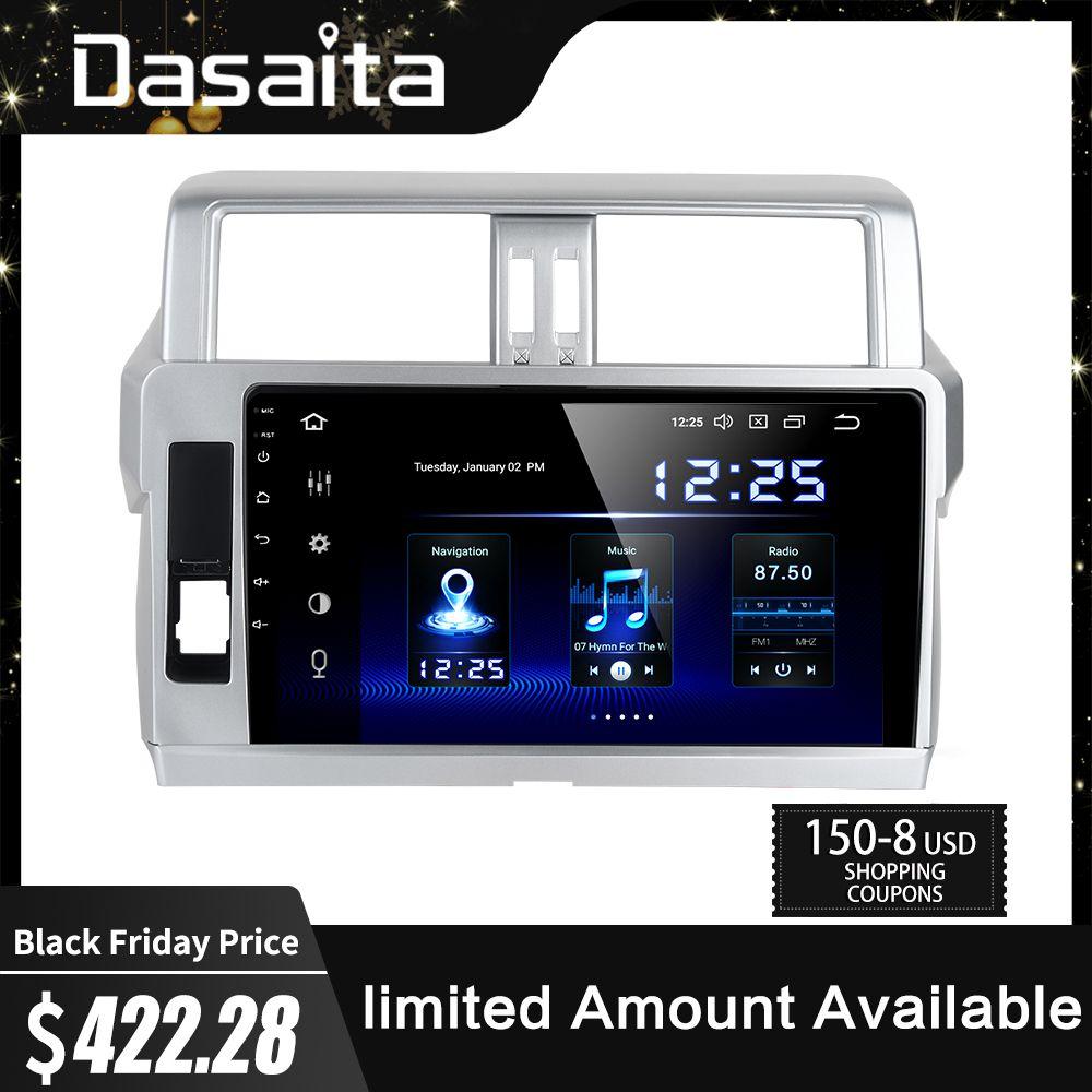 Dasaita 2 Din Android 9.0 Auto Radio GPS Navigation für Toyota Prado 2014 2015 10,2