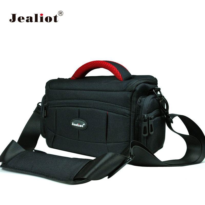 Jealiot sac pour sac photo rembourrage SLR DSLR photo sac à bandoulière appareil photo numérique foto objectif vidéo étui pour for Canon 6d 70d 1300d Nikon sony a5100