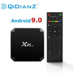 DQiDianZ X96mini new Android 9.0 X96 mini Smart TV BOX S905W Quad Core support 2.4G Wireless WIFI media box Set-Top Box