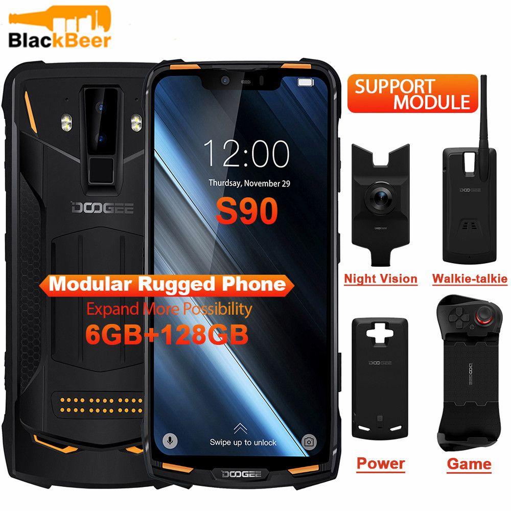 DOOGEE S90 Handy IP68 IP69K Robuste Handy 6,18 inch IPS Display 5050mAh MT6771 Octa Core 6GB 128GB Android 8.1 16.0MP
