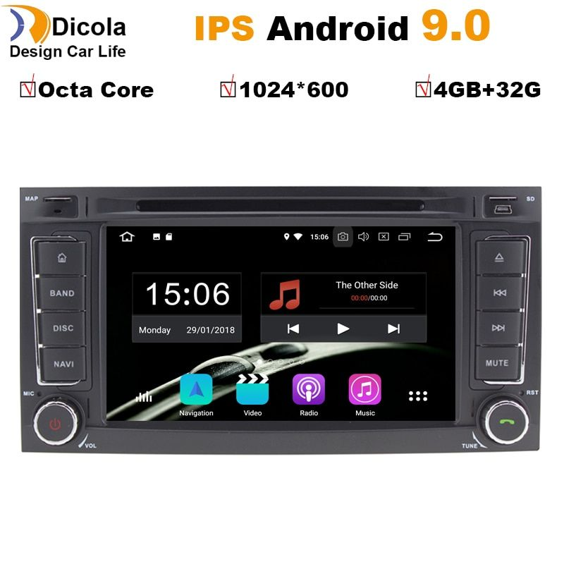Android 9 2din Auto dvd radio Multimedia-player Für VW Touareg Multivan T5 (2004-2011) GPS Navigagion SWC Canbus BT WIFI RDS T5