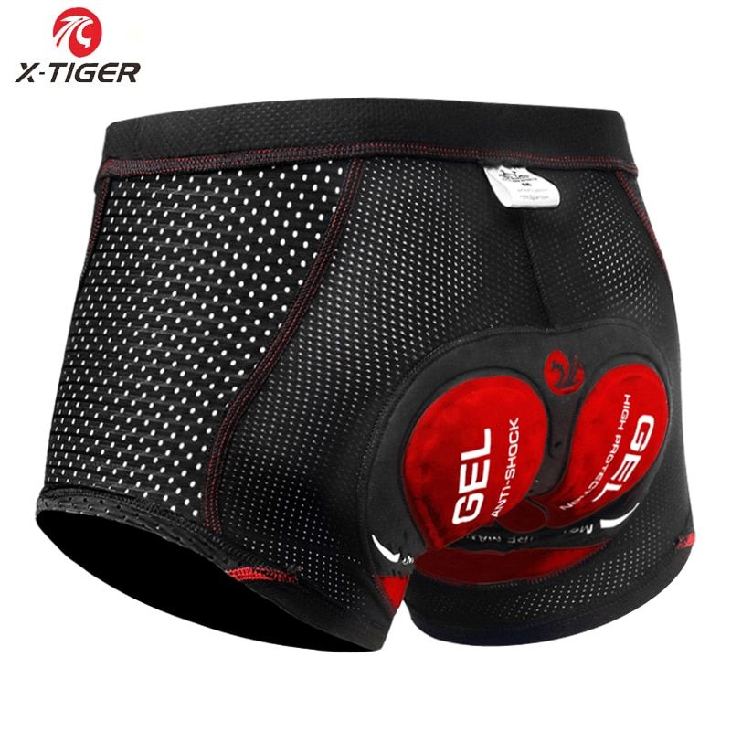 X-Tiger 2019 Upgrade Cycling Shorts Cycling Underwear Pro 5D Gel Pad Shockproof Cycling Underpant Bicycle Shorts Bike Underwear