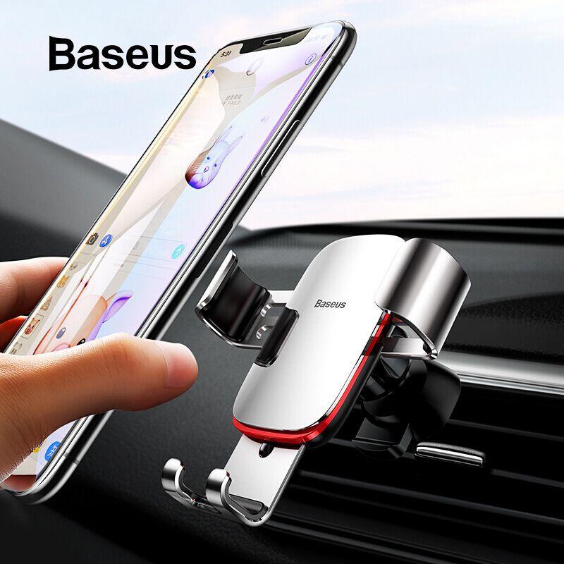 Support universel de voiture pour téléphone portable Baseus pour iPhone 11 Pro Samsung Huawei support de montage d'évent de voiture support pour téléphone Mobile à gravité en métal