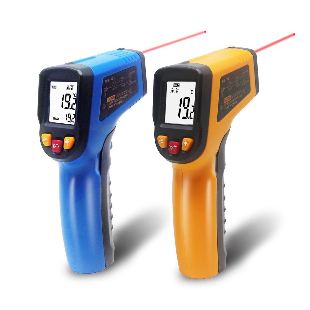 Thermomètre infrarouge IR sans contact portable numérique LCD Laser pyromètre Surface température mètre imageur C F rétro-éclairage-50 ~ 600C