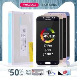AMOLED for SAMSUNG J7 2017 Display J730 J730F J7 Pro LCD Touch Screen Replacement for SAMSUNG Galaxy J7 2017 Display