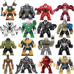 Legoings Marvel Avengers 4 Endgame Super Heroes  iron man Captain America Thanos Hulk Building Blocks Figures Toys For Children