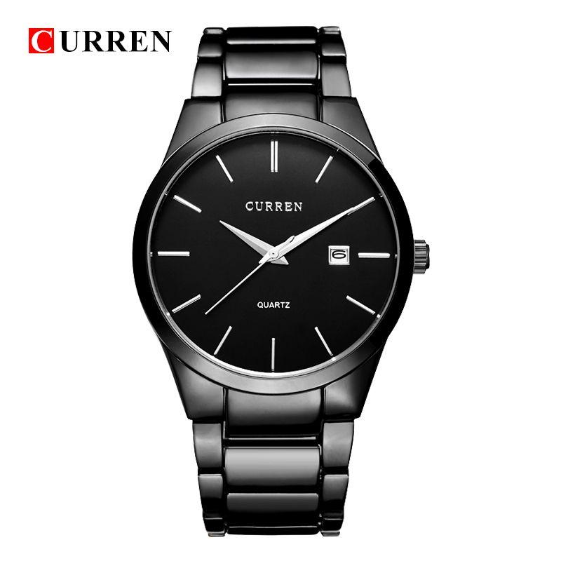 Montre de luxe CURREN \montre-bracelet sport analogique affichage de date montre à quartz pour hommes montre d'affaires 8106