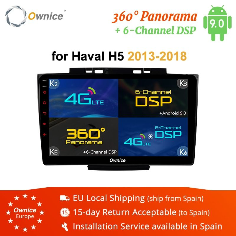 Ownice K3 K5 K6 Android 8.1 Auto DVD Player GPS Für Great wall Haval Hover H5 H3 2013-2018 Audio auto Radio 360 Panorama DSP 4G