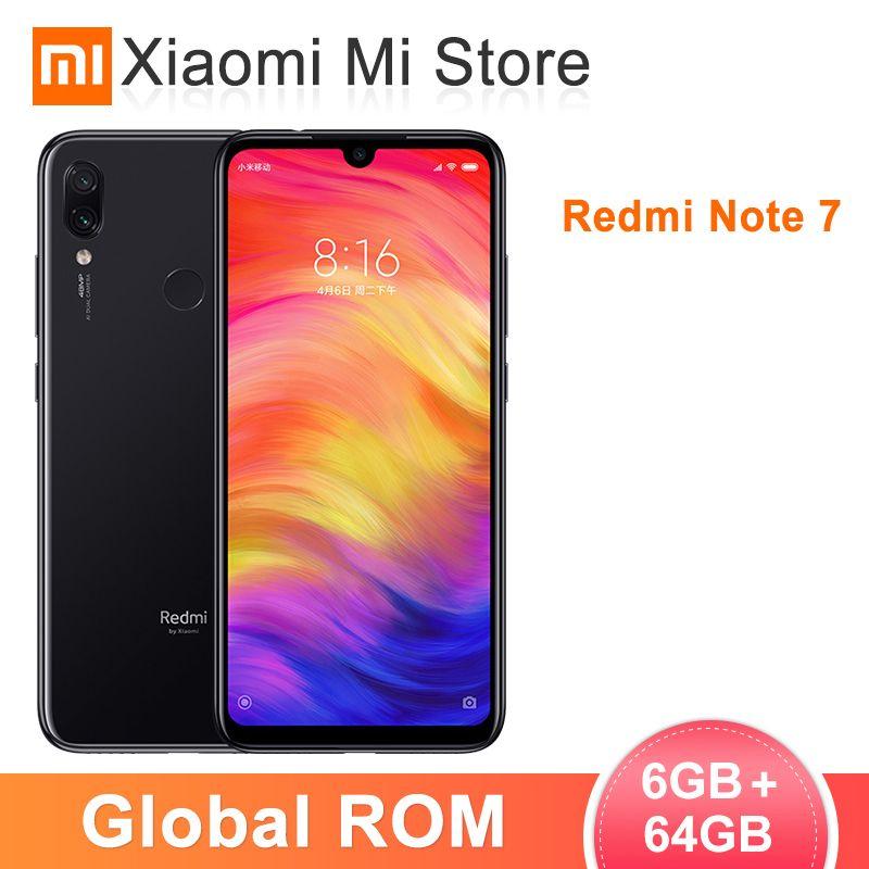 Global ROM Xiaomi Redmi Note 7 6GB 64GB Mobile Phone Snapdragon 660 Octa Core 4000mAh 6.3