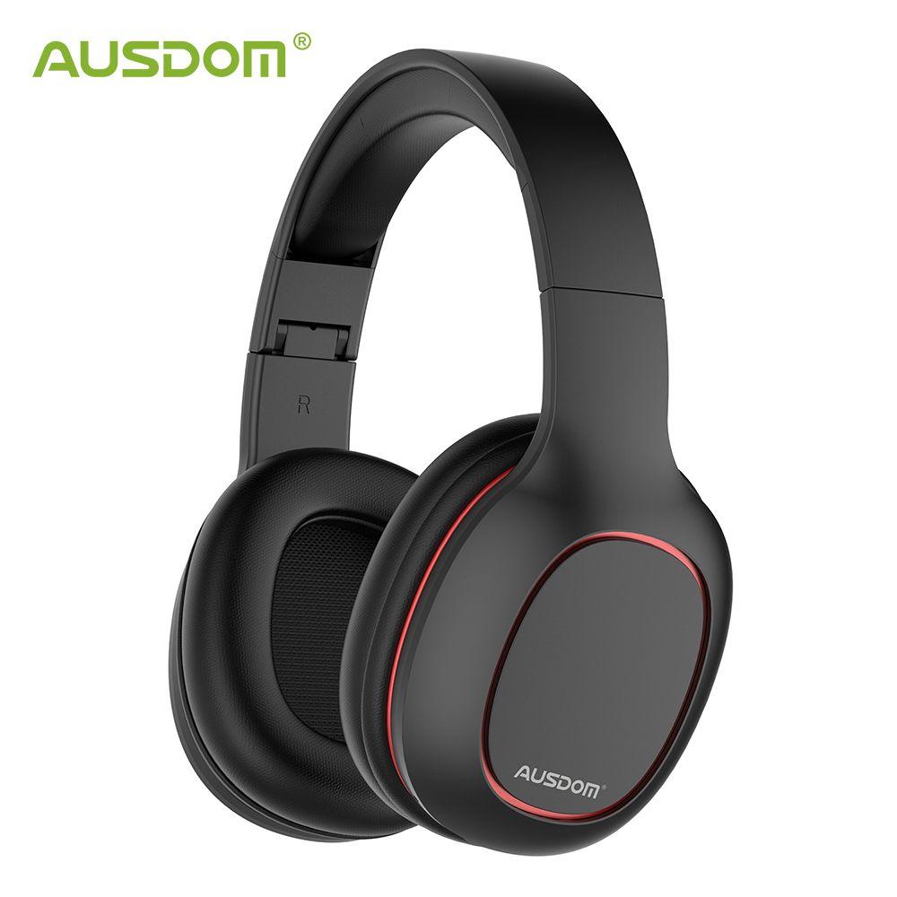 Ausdom M09 casque Bluetooth sur l'oreille casque filaire sans fil pliable Bluetooth 4.2 casque stéréo avec micro Support carte TF