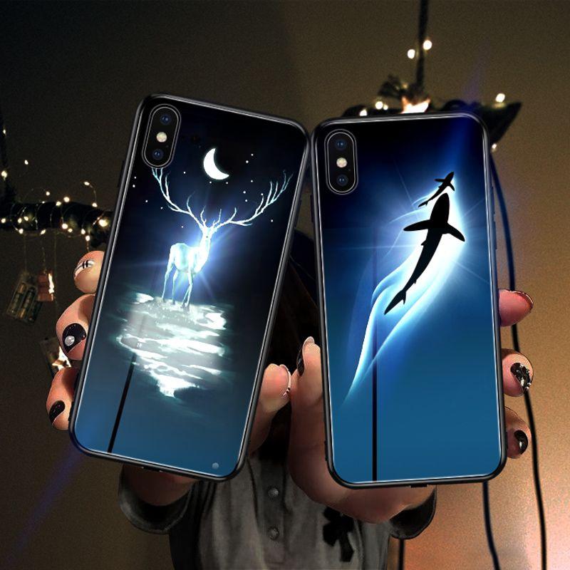 Mofi étui pour iphone huawei LED briller cas livraison directe
