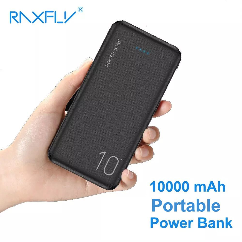 RAXFLY Power Bank 10000mAh Portable Charger Powerbank For Samsung Xiaomi mi Mobile External Battery 10000 mAh Poverbank Phone