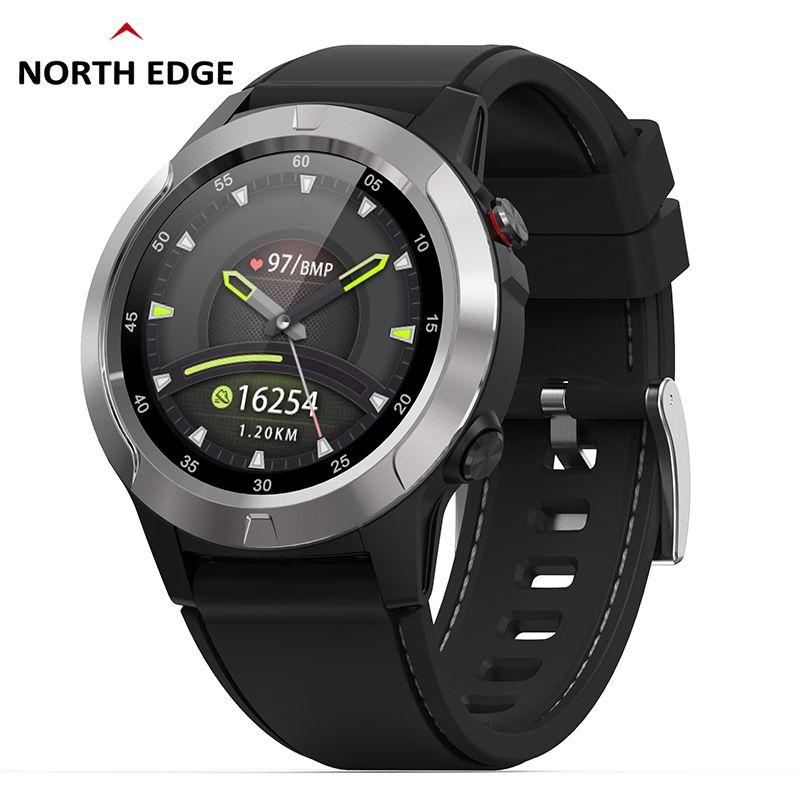 GPS montre intelligente hommes montre numérique fréquence cardiaque Altitude baromètre boussole Smartwatch hommes course Sport Fitness Tracker NORTH EDGE