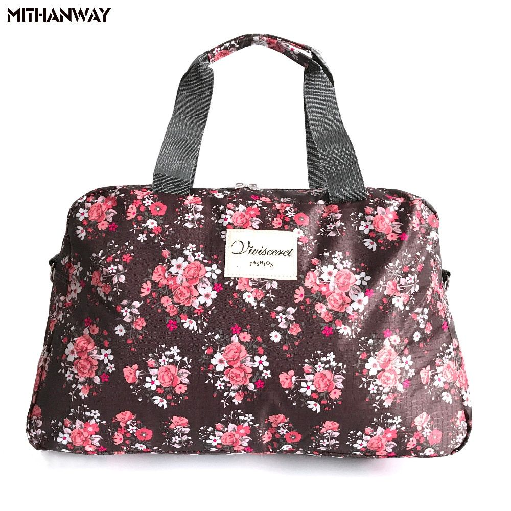 Femmes dame grande capacité Floral polochon Totes Sport sac multifonction Portable Sport voyage bagages Gym Fitness sac 5 couleurs