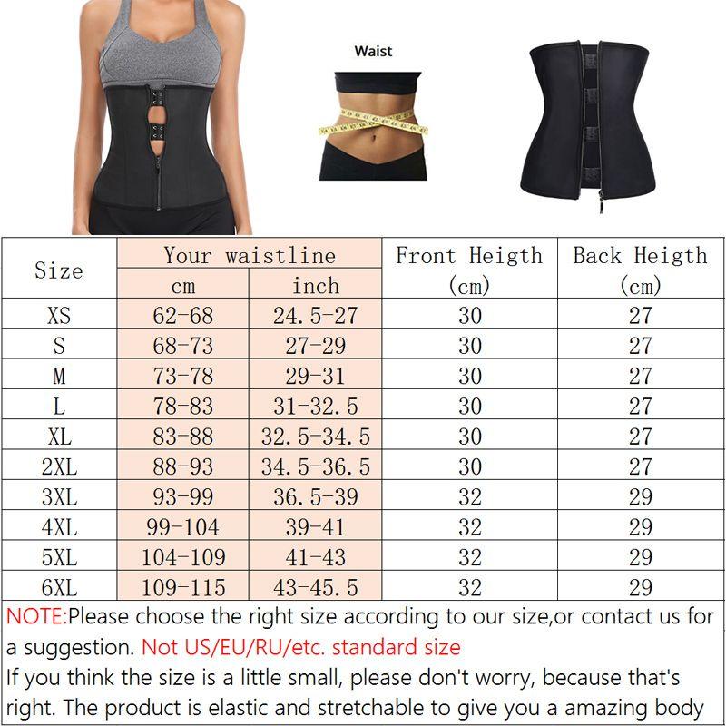 Women Latex Rubber Waist Trainer Body Shaper Hook Zipper Bustiers Waist Cincher Tops Slimming Shapewear Girdle