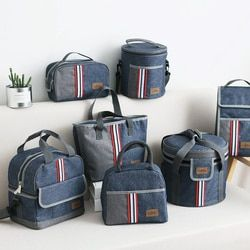 Oxford Thermal Lunch Bag Insulated Cooler Storage Women kids Food Bento Bag Portable Leisure Accessories Supply Product Stuff