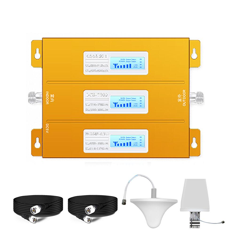 Tri-band Handy Signal Repeater 2G 3G 4G Cellular Signal Booster Verstärker GSM 900/DCS 1800 /WCDMA 2100MHz