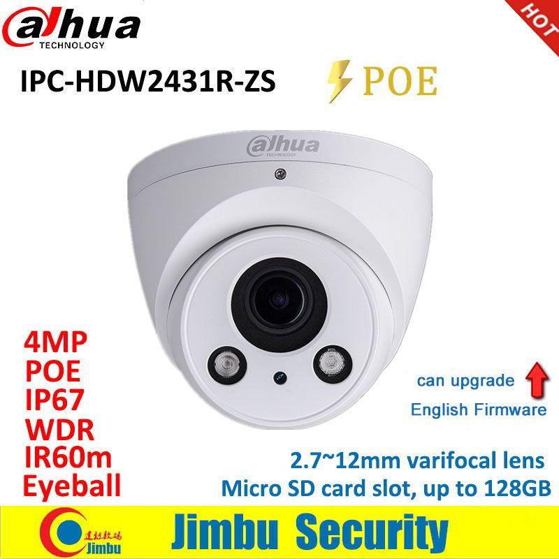 Dadua IP Kamera 4MP POE IPC-HDW2431R-ZS 2,7 ~ 12mm vario objektiv IR60M 3DNR H.265/H.264 IR60m Micro SD karte slot kann aufgerüstet werden