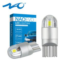 NAO T10 LED W5W 3030 Car led light White 168 194 Car Accessories Turn Signal Clearance Lights Reading lamp 12V Yellow 3000K Red