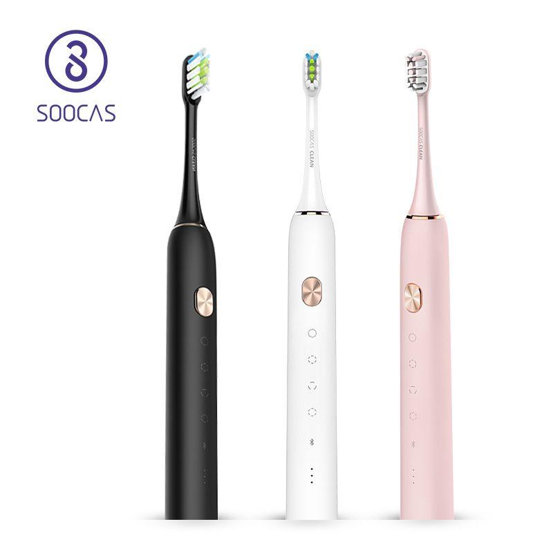 Soocas X3 brosse à dents électrique sonique mise à niveau adulte imperméable à l'eau Ultra sonique brosse à dents automatique USB Rechargeable pour Mijia