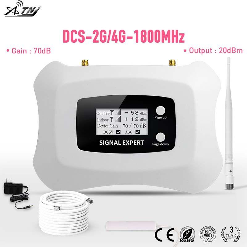 2019 nouvelle mise à niveau LCD affichage fréquence globale 2G 4G LTE DCS 1800mhz répéteur de signal mobile/amplificateur de signal pour kit 2G4G