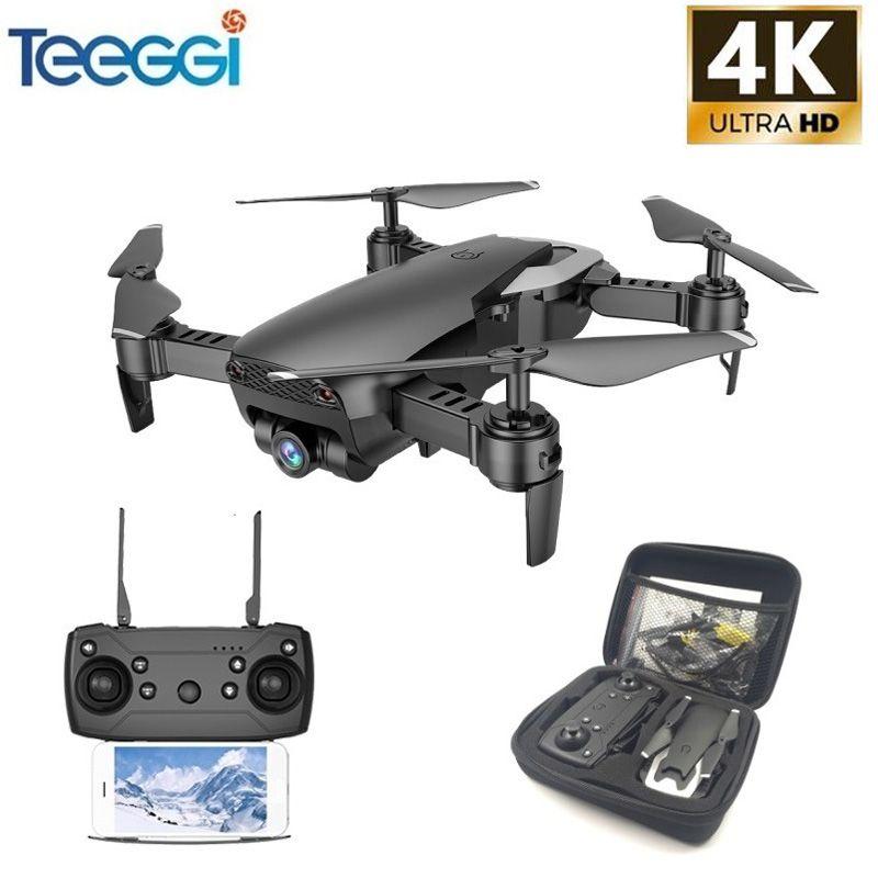 Drone Teeggi M69 FPV 4K avec caméra WiFi grand angle 1080P pliable RC Mini hélicoptère quadrirotor VS VISUO XS809HW E58 X12