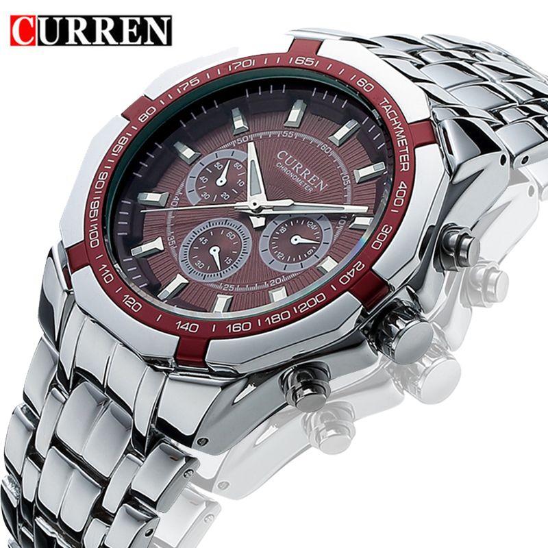 Curren Watches 2019 Men Top Brand Relogio Masculino Luxury Military Quartz Watch Mens Casual Analog Man Wristwatch Dropshipping