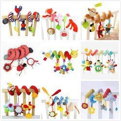 baby toys 0-12 months Toddler animal crib Spiral toy kids bed hanging For Baby Stroller Toys Educational Teether Newborns rattle