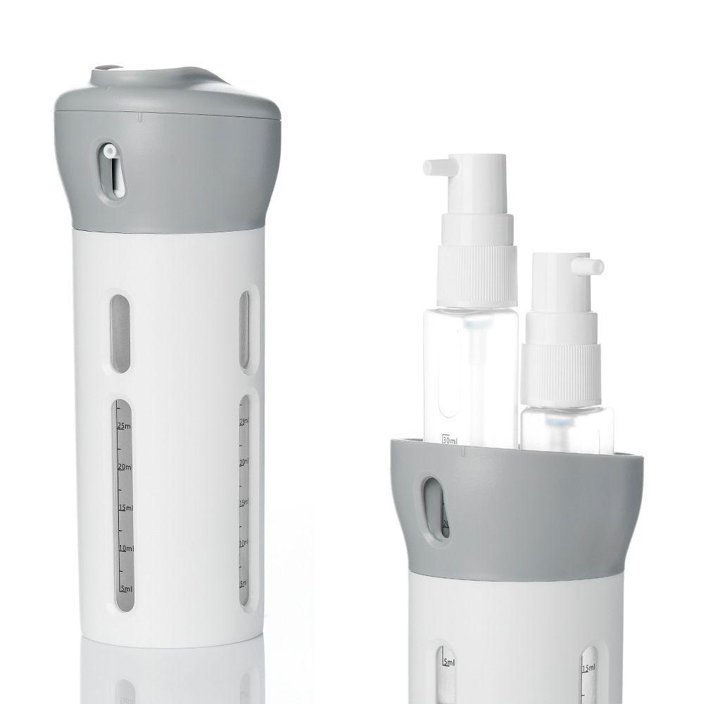 Nouveau Portable 4 en 1 Lotion distributeur Lotion shampooing douche Gel sous-bouteille voyage émulsion embouteillage livraison directe