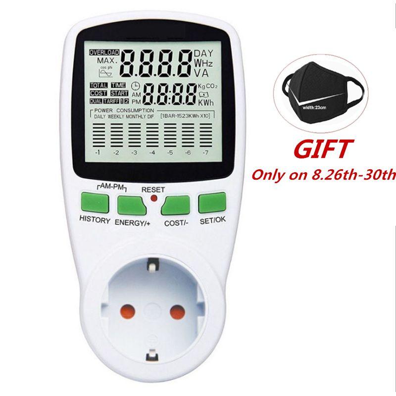 Compteur d'énergie numérique LCD wattmètre puissance électrique Kwh compteur d'énergie EU français US UK AU analyseur de puissance de sortie de mesure
