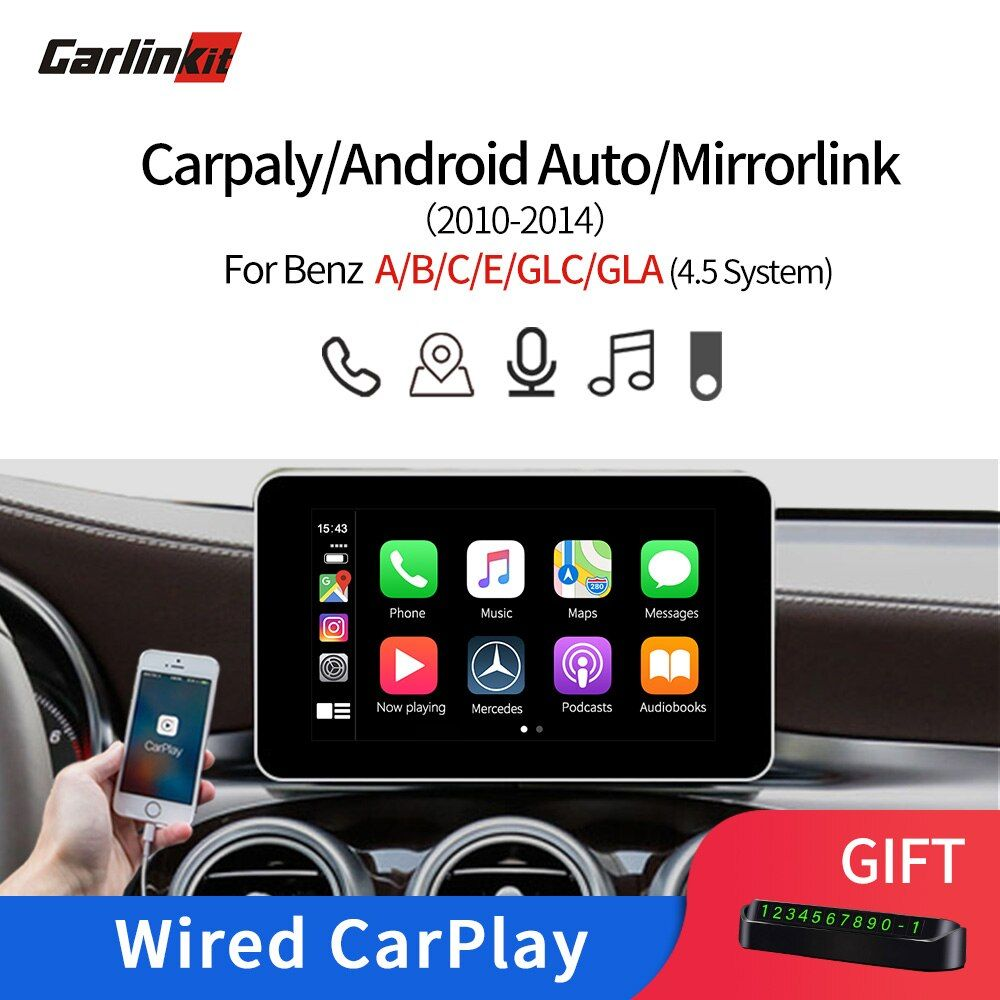 Carlinkit Multimedia Smart Auto Retrofit mit Apple Carplay Android AutoBox für Mercedes NTG4.5 2012-2014 iOS AirPlay Für Benzs