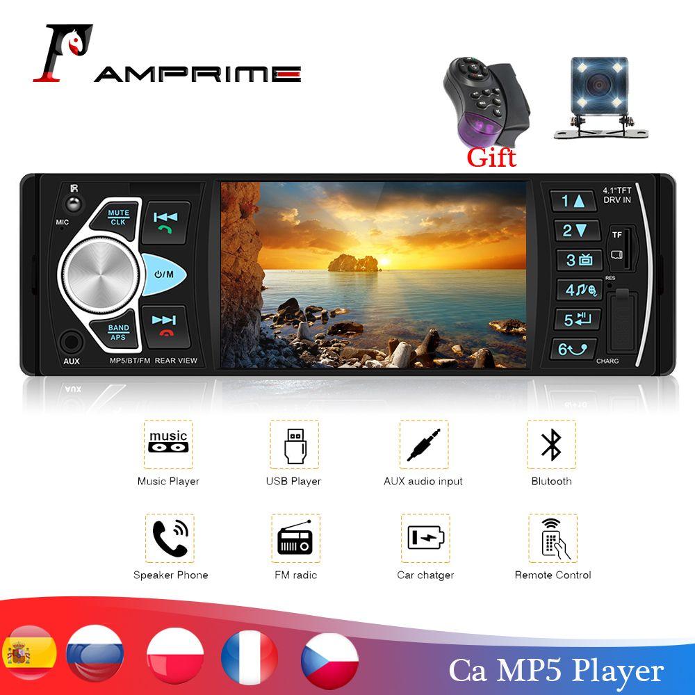 AMPrime Autoradio 4022D 4.1 1 Autoradio Din Audio stéréo USB AUX FM lecteur Audio Radio avec télécommande voiture Audio