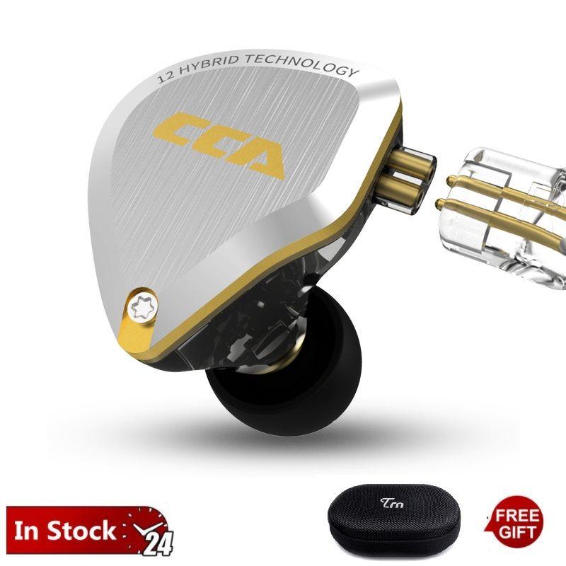 CCA C12 5BA + 1DD Gold Metall HIFI Hybrid In Ohr Kopfhörer 12 Treiber Einheit 5D Stereo HIFI Bass ZS10 ZSN PRO AS10 C10 C16