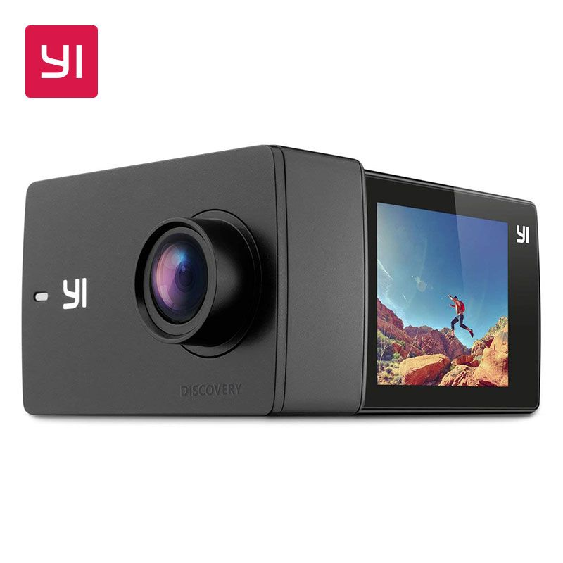 YI Discovery Action Camera 4K 20fps Sports Cam 8MP 16MP with 2.0 Touchscreen Built-in Wi-Fi 150 Degree Ultra Wide Angle