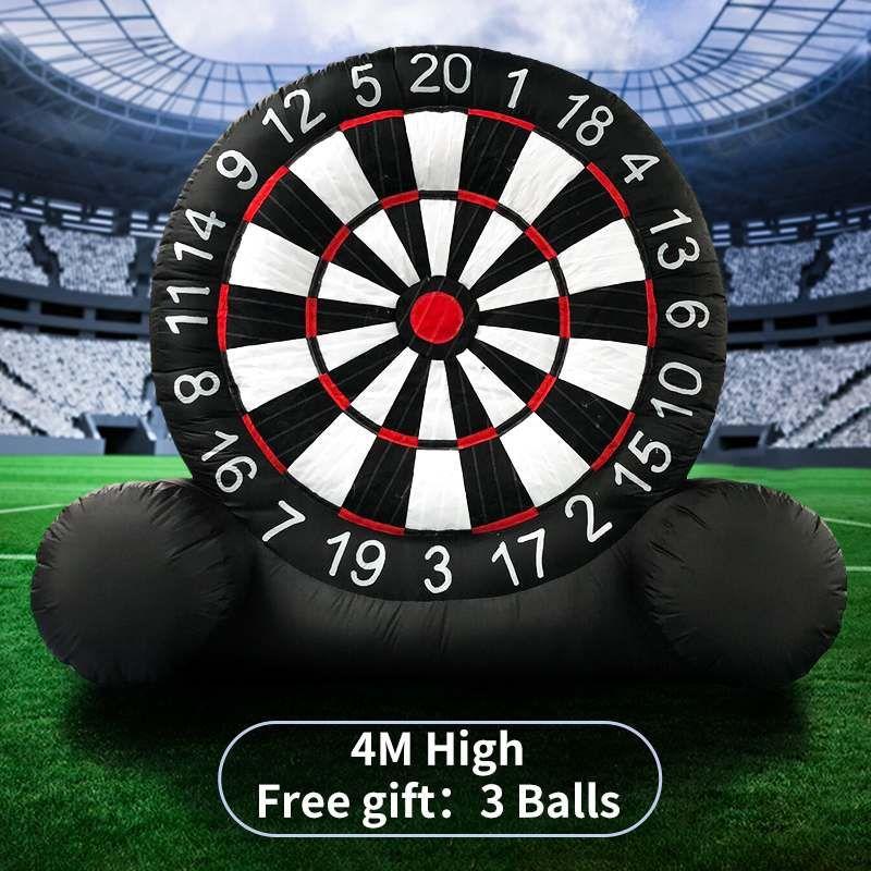 4M Riesige Hohe Aufblasbare Dart Board Spiel Aufblasbare Fußball Dart Board Mit 220V Luft Gebläse Outdoor Sport Schlauchboote spielzeug