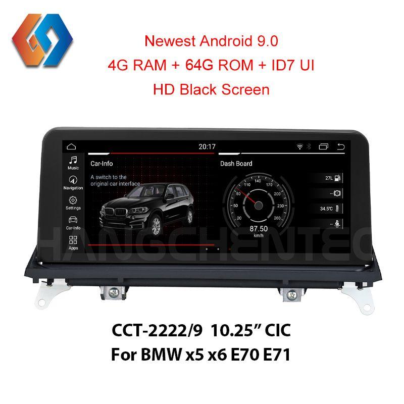 Neue Kommen Android 9.0 64G rom Schwarz Bildschirm für BMW x5 x6 E70 E71 CIC Eingebaute CarPlay Funktion Bluetooth WiFi auto GPS Multimedia
