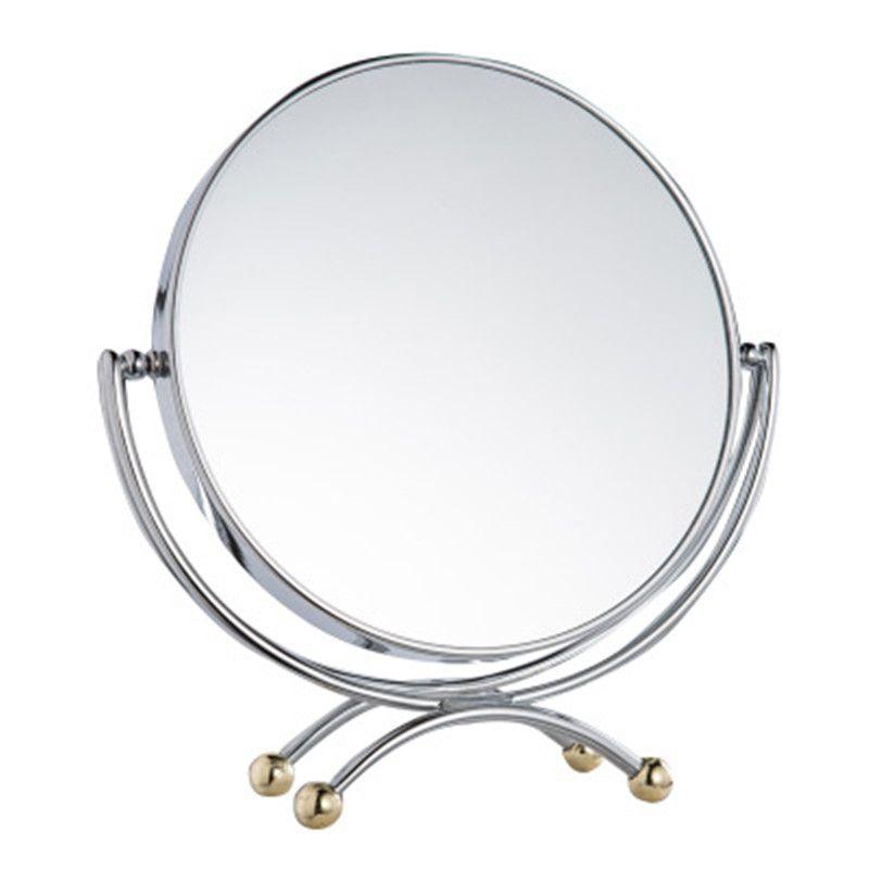 SpringQuan nouveau 7 pouces miroir de bureau en métal de style Européen simple mode miroir Double miroir 3Xzoom Princesse miroir