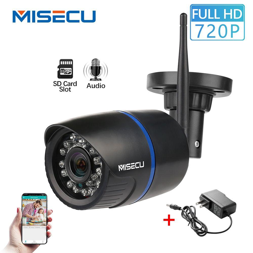 MISECU caméra IP Wifi 720P enregistrement Audio Onvif caméra sans fil balle extérieure étanche IP Surveillance de sécurité fente pour carte SD