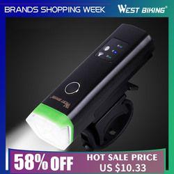 West biking велосипед передний свет индукционный велосипед яркий свет фонарик с USB подзарядкой Велоспорт водонепроницаемый фонарь велосипед фа...