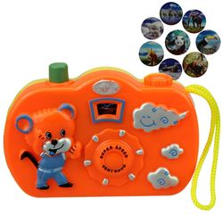1pc Light Projection Camera Kids Educational Toys for Children Baby Gifts Animals World Random Color No Need To Install Battery