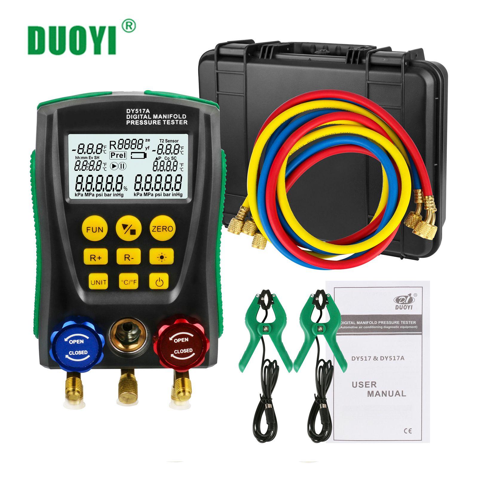 DUOYI réfrigération numérique collecteur ensemble de manomètres pression sous vide température mètre test climatiseur PK TESTO 550