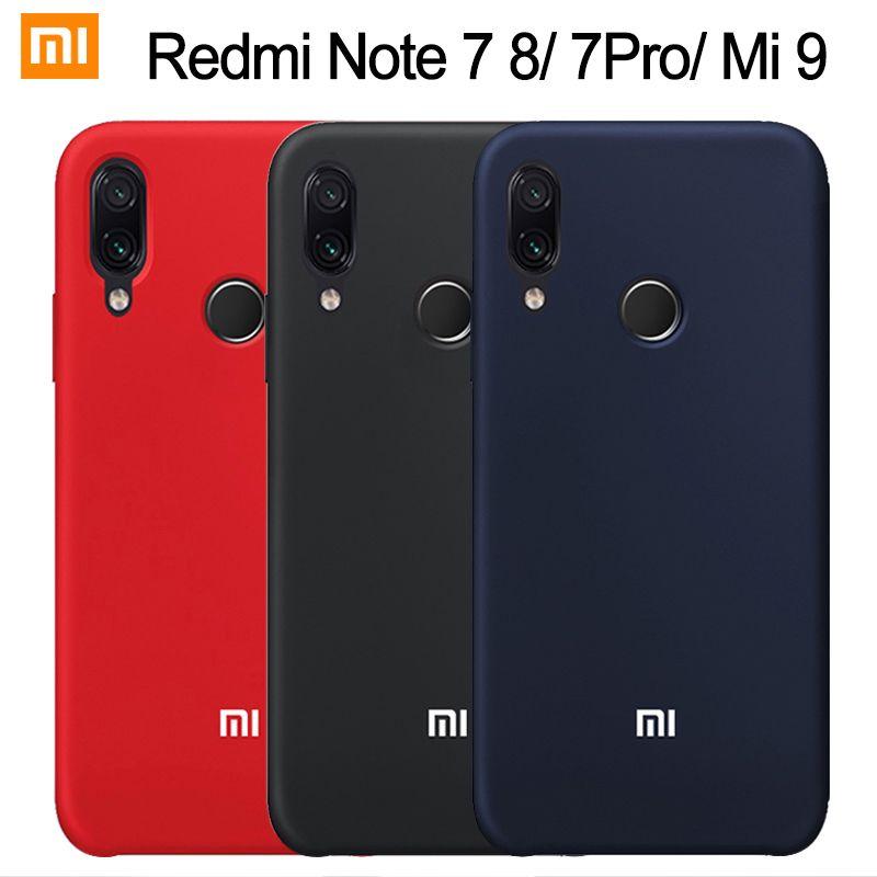 Xiaomi Redmi Note 7 Case Liquid Silicone Soft Protect Back Cover Xiaomi Mi 9 9T 8 SE A2 Lite Redmi Note 8 7 6 5 Pro 7A 6A Case