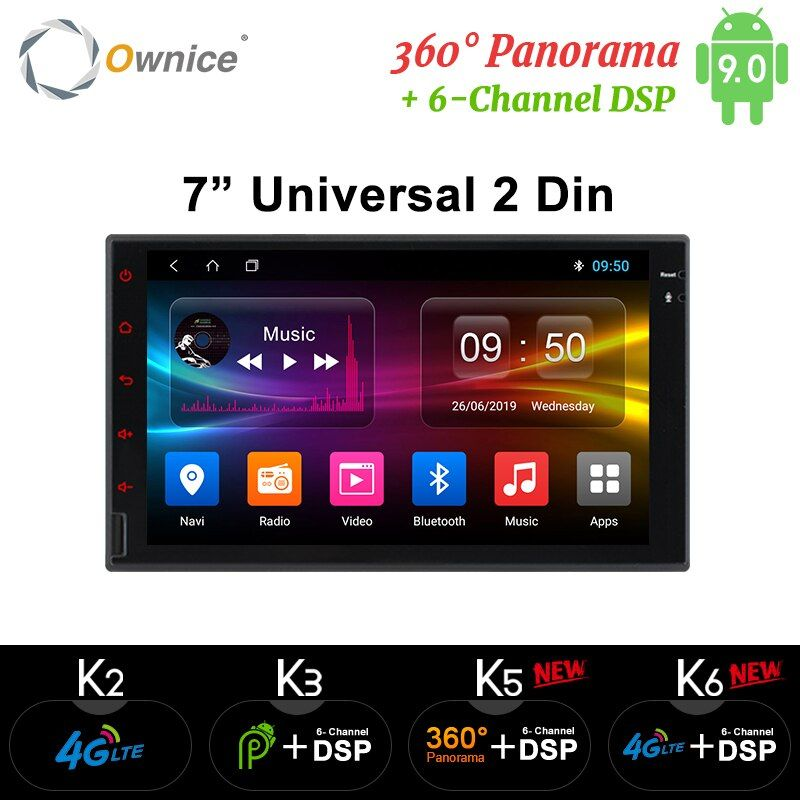 Ownice K1 K2 K3 Octa 8 Core Android 2G RAM 32GB ROM Support 4G LTE SIM réseau voiture GPS 2 din universel autoradio lecteur dvd