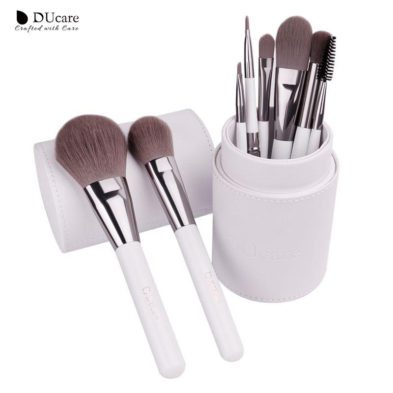 DUcare Pinceaux De Maquillage professionnel maquillage brosse Set 8 pièces Brosses pour le Maquillage Fond De Teint Poudre Eyeshaodow Brosses Avec Cylindre