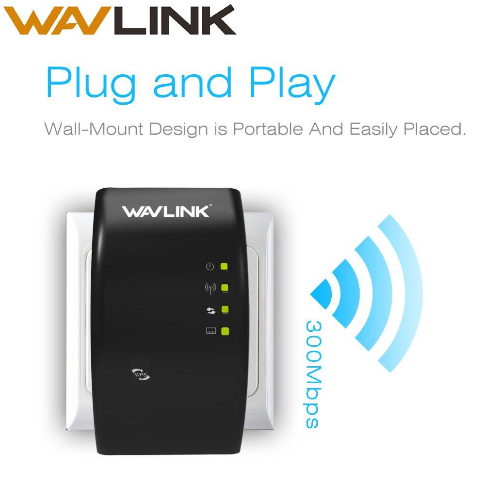 Wavlink Sans Fil Répéteur Wi-Fi 300Mbps WIFI Prolongateur d'autonomie Amplificateur de Signal wifi Booster 802.11n/b/g repetidor wifi WPS VOYAGES