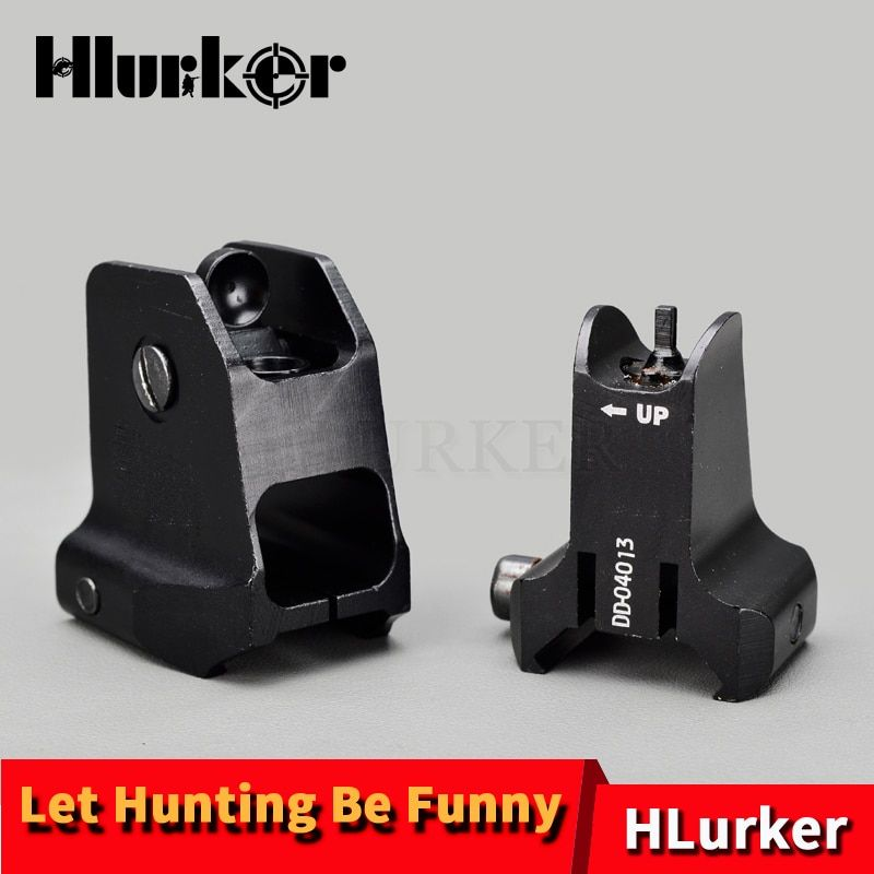 Tactical Rear Finder Fixed Front Rear Sight Collimator Design Standard AR15 Apertures Iron Sights Hunting Airsoft Accessories