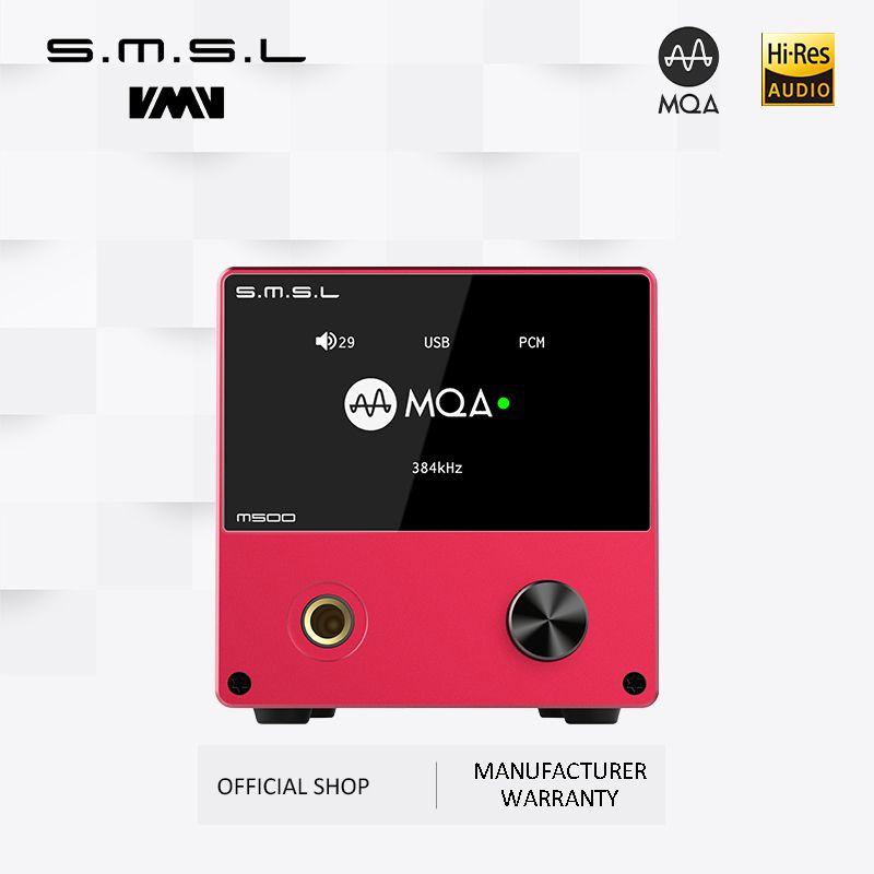 SMSL M500 Unterstützt MQA XMOS XU-216 ES9038PRO Unterstützt DoP und Native DSD Big Power Kopfhörer Verstärker mit Fernbedienung