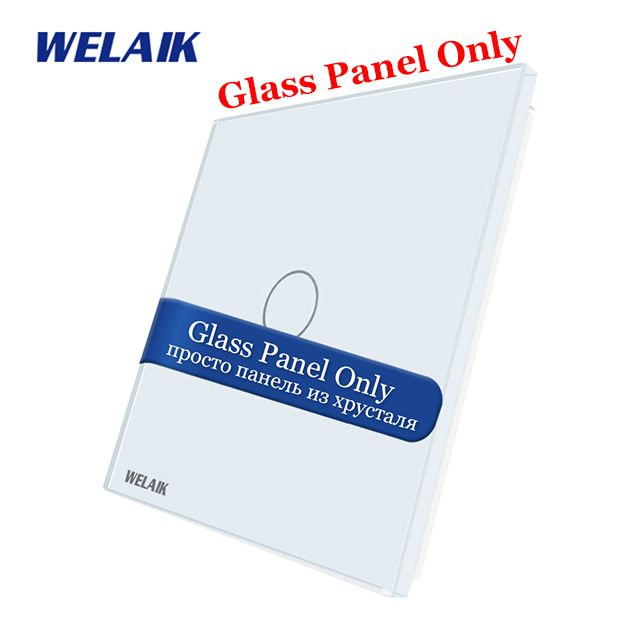 WELAIK EU Not-Touch-Switch DIY-Parts Glass-Panel Only-Wall Light-Switch Crystal-Glass-Panel-1Gang A191W/B1